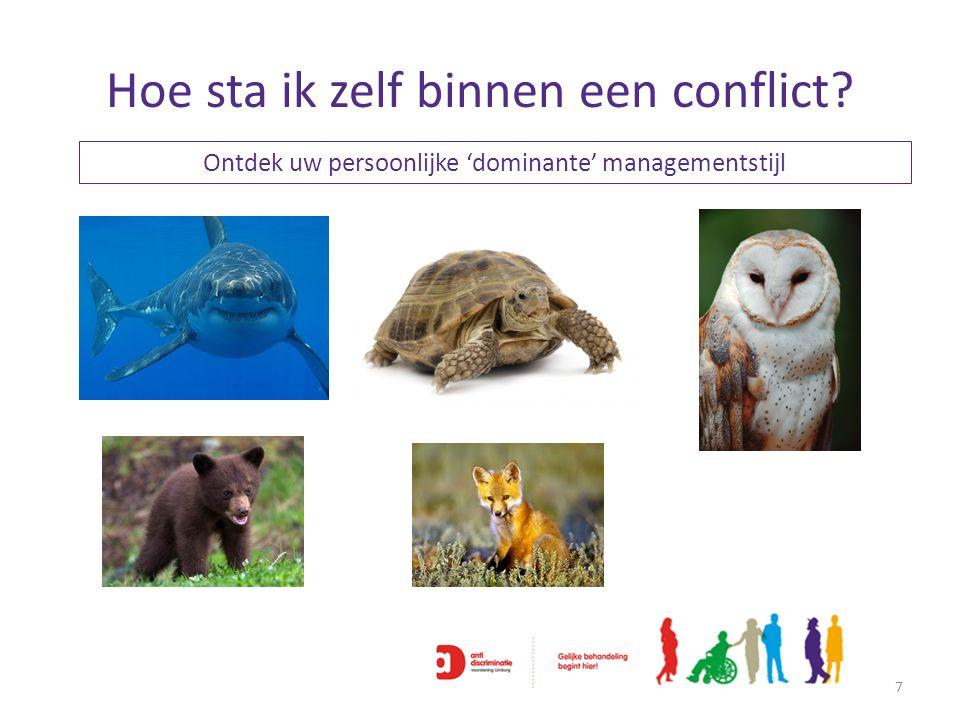 Hoe sta ik zelf binnen een conflict? 7 Ontdek uw persoonlijke 'dominante' managementstijl