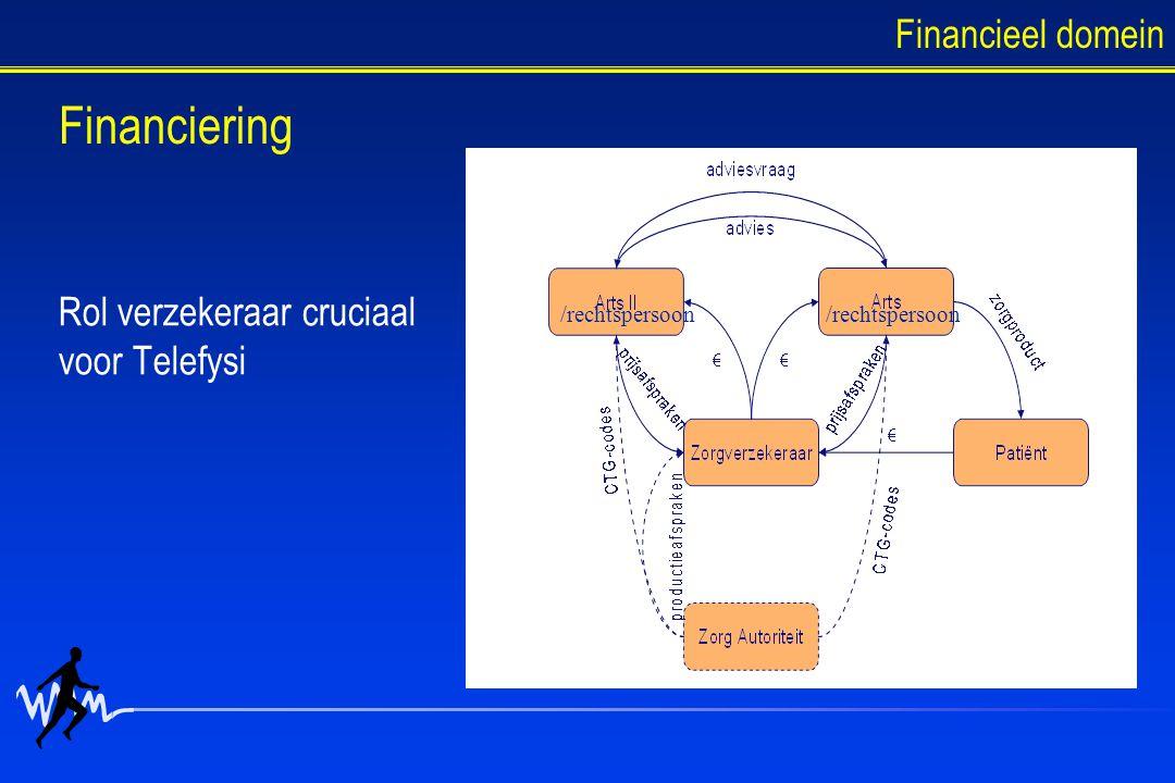 Rol verzekeraar cruciaal voor Telefysi /rechtspersoon Financieel domein Financiering
