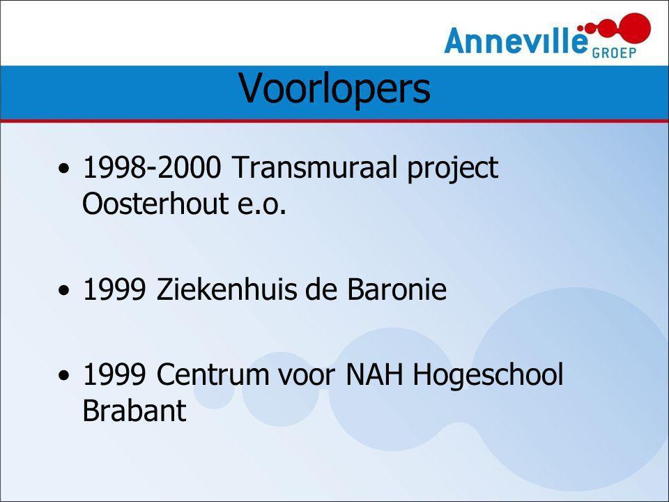 Voorlopers 1998-2000 Transmuraal project Oosterhout e.o.