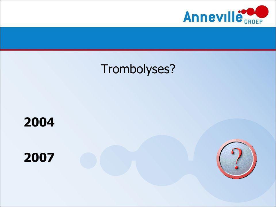Trombolyses 2004 2007