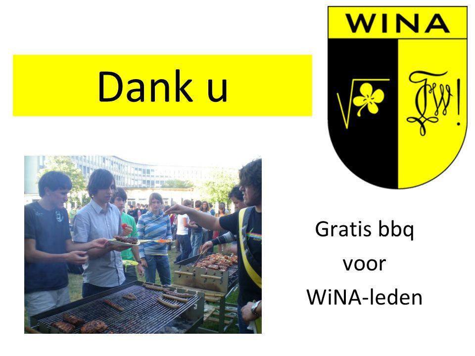 Gratis bbq voor WiNA-leden Dank u