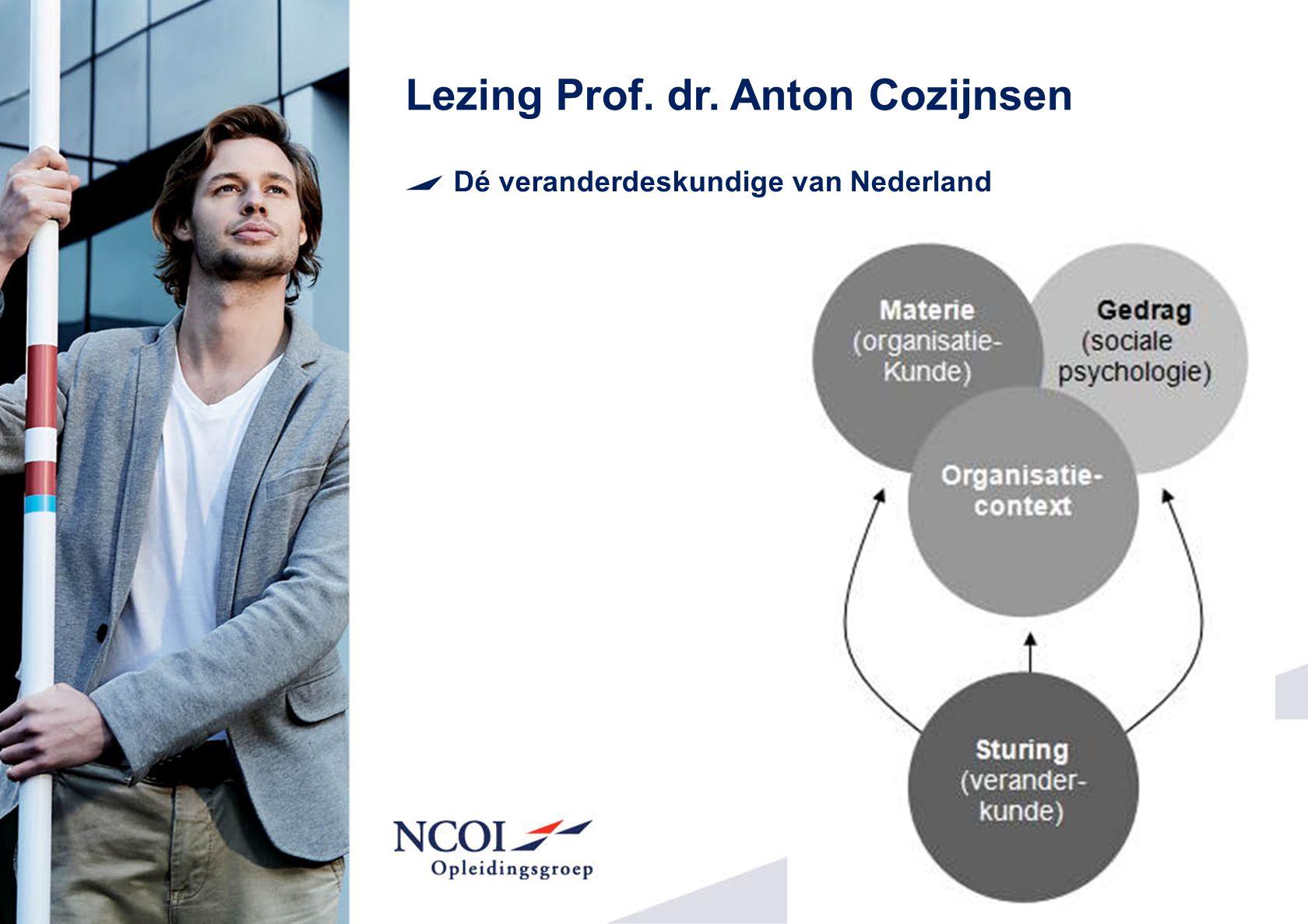 Lezing Prof. dr. Anton Cozijnsen Dé veranderdeskundige van Nederland