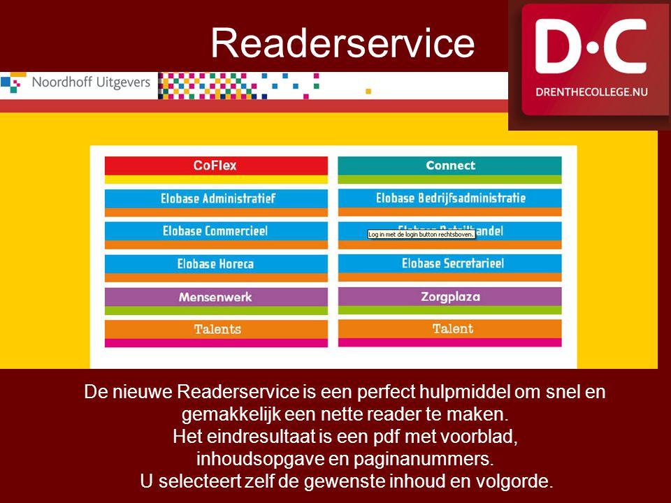 De nieuwe Readerservice is een perfect hulpmiddel om snel en gemakkelijk een nette reader te maken. Het eindresultaat is een pdf met voorblad, inhouds