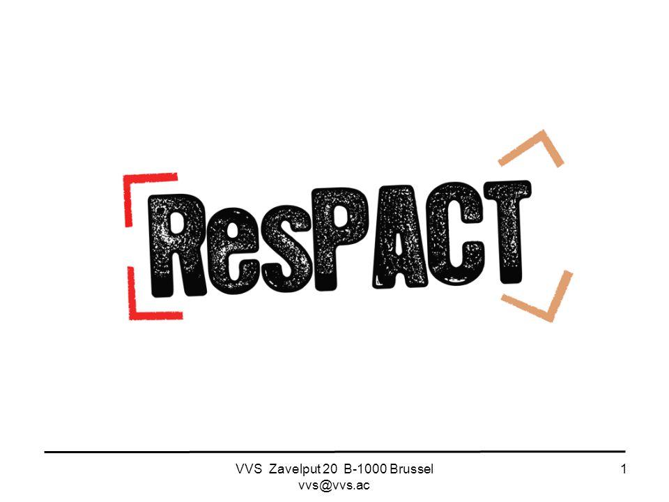 VVS Zavelput 20 B-1000 Brussel vvs@vvs.ac 1 RESPACT studiekostencampagne