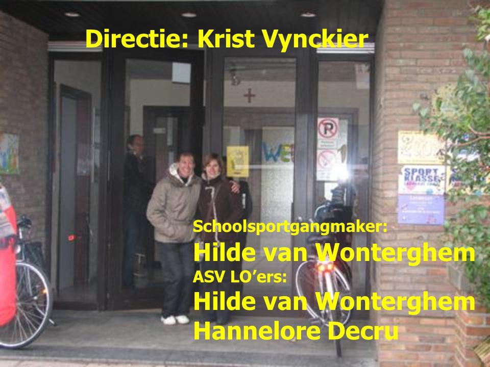 Directie: Krist Vynckier Schoolsportgangmaker: Hilde van Wonterghem ASV LO'ers: Hilde van Wonterghem Hannelore Decru