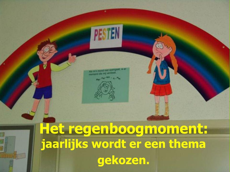 Het regenboogmoment: jaarlijks wordt er een thema gekozen.