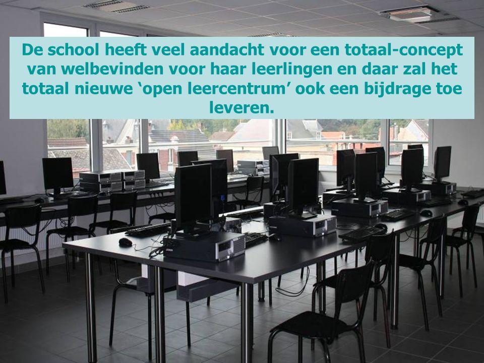 De school heeft veel aandacht voor een totaal-concept van welbevinden voor haar leerlingen en daar zal het totaal nieuwe 'open leercentrum' ook een bi