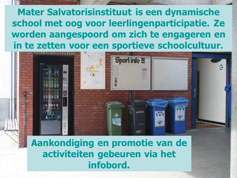 Mater Salvatorisinstituut is een dynamische school met oog voor leerlingenparticipatie. Ze worden aangespoord om zich te engageren en in te zetten voo