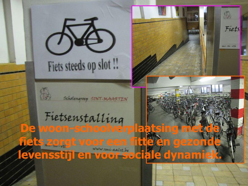 De woon-schoolverplaatsing met de fiets zorgt voor een fitte en gezonde levensstijl en voor sociale dynamiek.