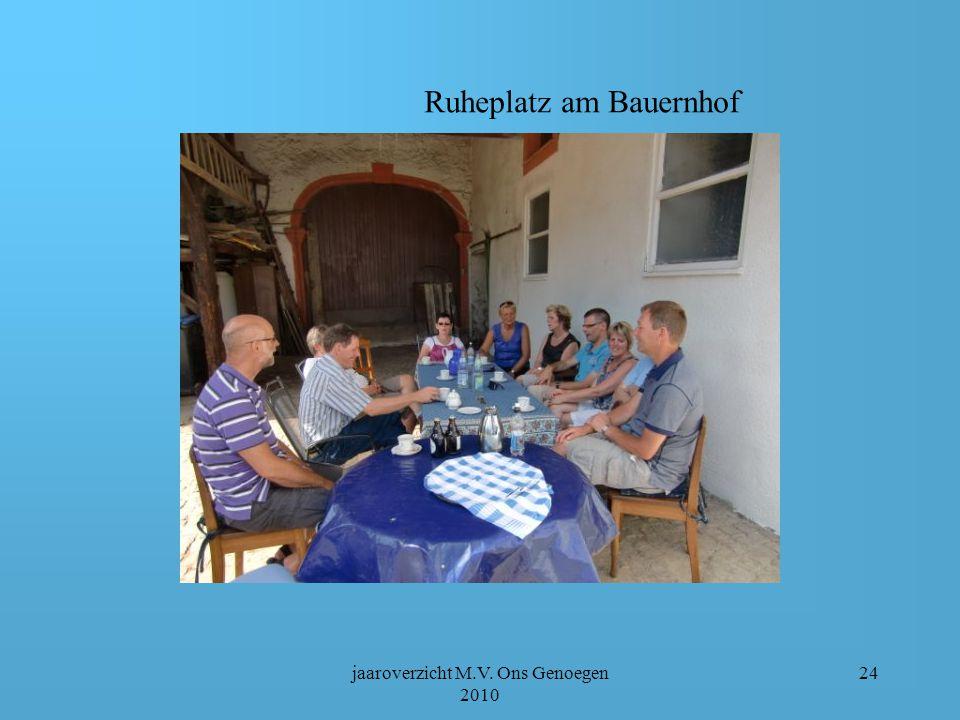 jaaroverzicht M.V. Ons Genoegen 2010 23 Wandelen rundum Eifelblick