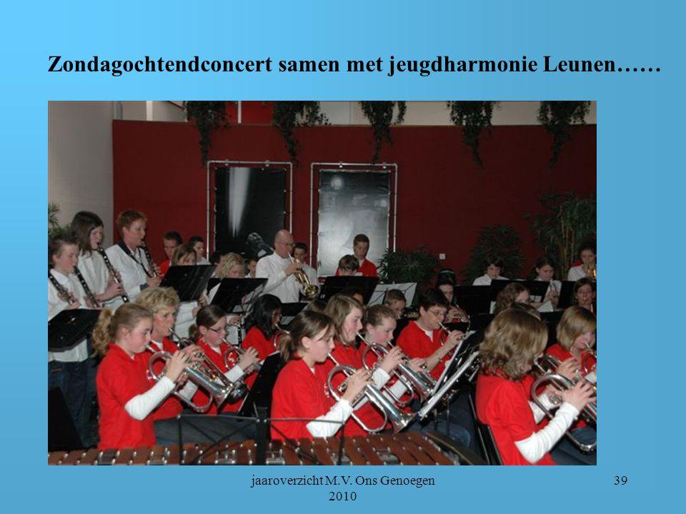 jaaroverzicht M.V. Ons Genoegen 2010 38 Zondagochtendconcert jeugdfanfare schouwburg Venray
