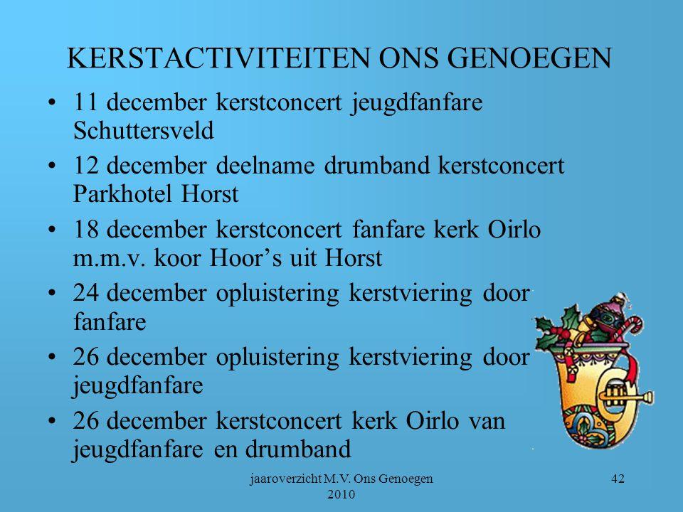 jaaroverzicht M.V. Ons Genoegen 2010 41 Tussendoor: geboren Merlijn, zoon van Rutger en Mieke