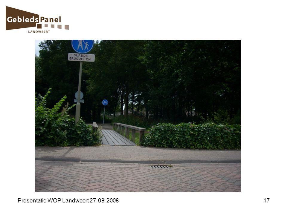 Presentatie WOP Landweert 27-08-200817