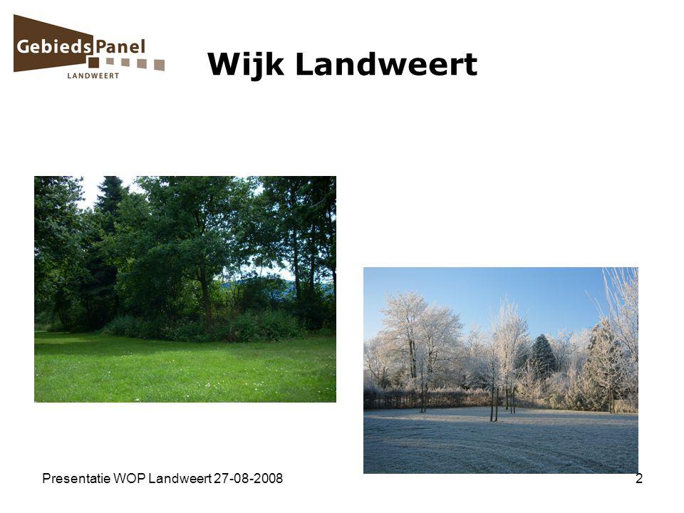 Presentatie WOP Landweert 27-08-20082 Wijk Landweert