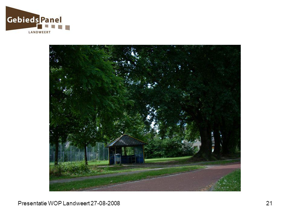 Presentatie WOP Landweert 27-08-200821