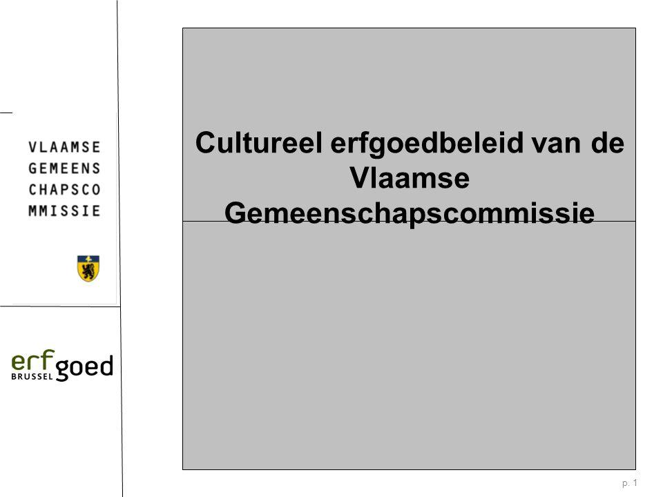 p. 1 Cultureel erfgoedbeleid van de Vlaamse Gemeenschapscommissie
