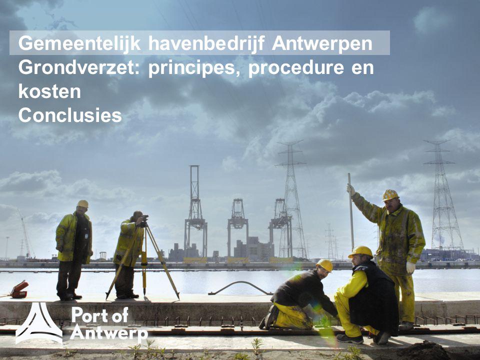 Gemeentelijk havenbedrijf Antwerpen Grondverzet: principes, procedure en kosten Conclusies