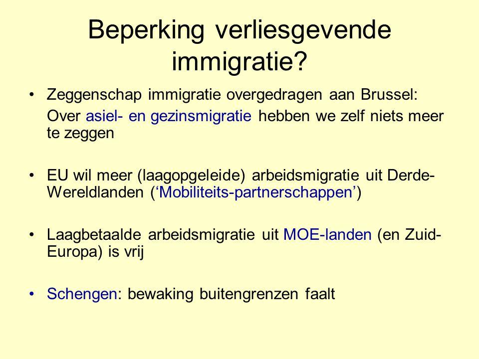 Beperking verliesgevende immigratie? Zeggenschap immigratie overgedragen aan Brussel: Over asiel- en gezinsmigratie hebben we zelf niets meer te zegge
