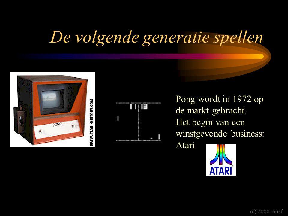 De volgende generatie spellen Pong wordt in 1972 op de markt gebracht. Het begin van een winstgevende business: Atari (c) 2000 thocf