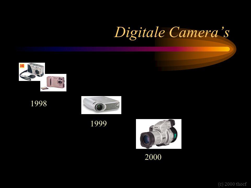 Digitale Camera's 1998 1999 2000 (c) 2000 thocf