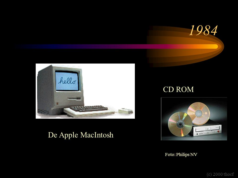 1984 De Apple MacIntosh CD ROM Foto: Philips NV (c) 2000 thocf