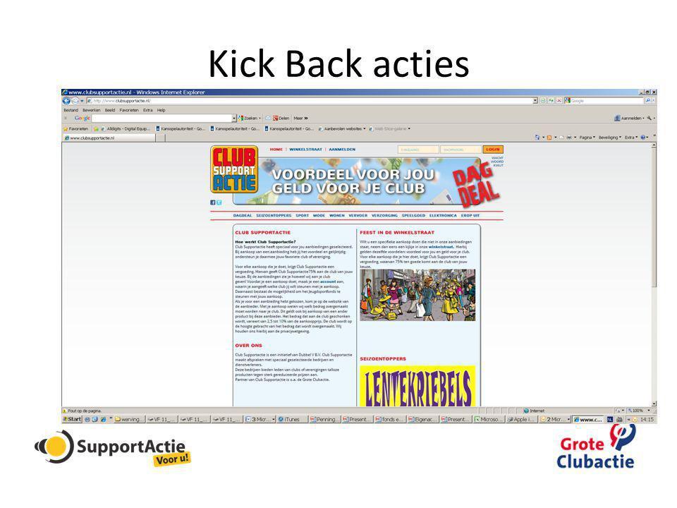 Kick Back acties