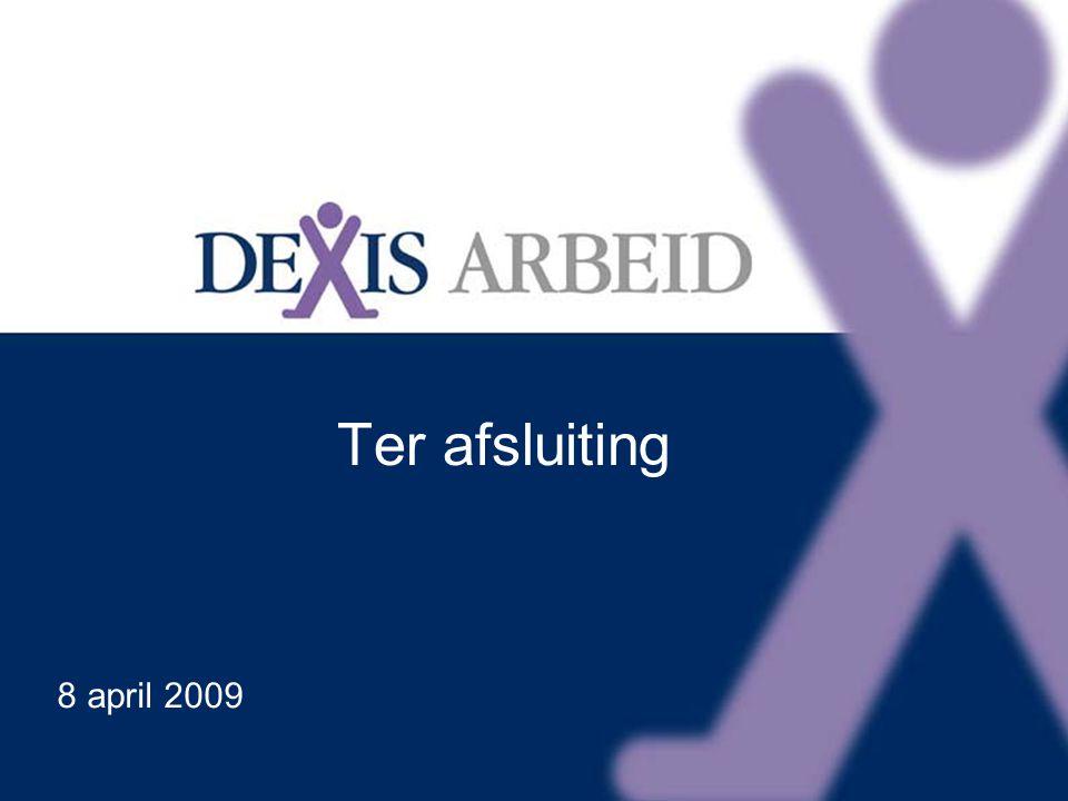 Klik om het opmaakprofiel van de modeltitel te bewerken Klik om de opmaakprofielen van de modeltekst te bewerken Tweede niveau Derde niveau Vierde niveau Vijfde niveau 21 Ter afsluiting 8 april 2009
