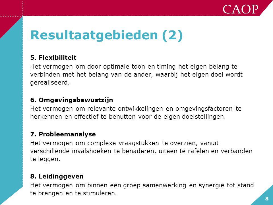 8 Resultaatgebieden (2) 5.