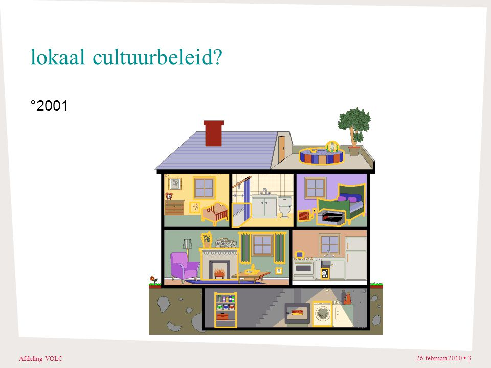 Afdeling VOLC 26 februari 2010 3 lokaal cultuurbeleid? °2001