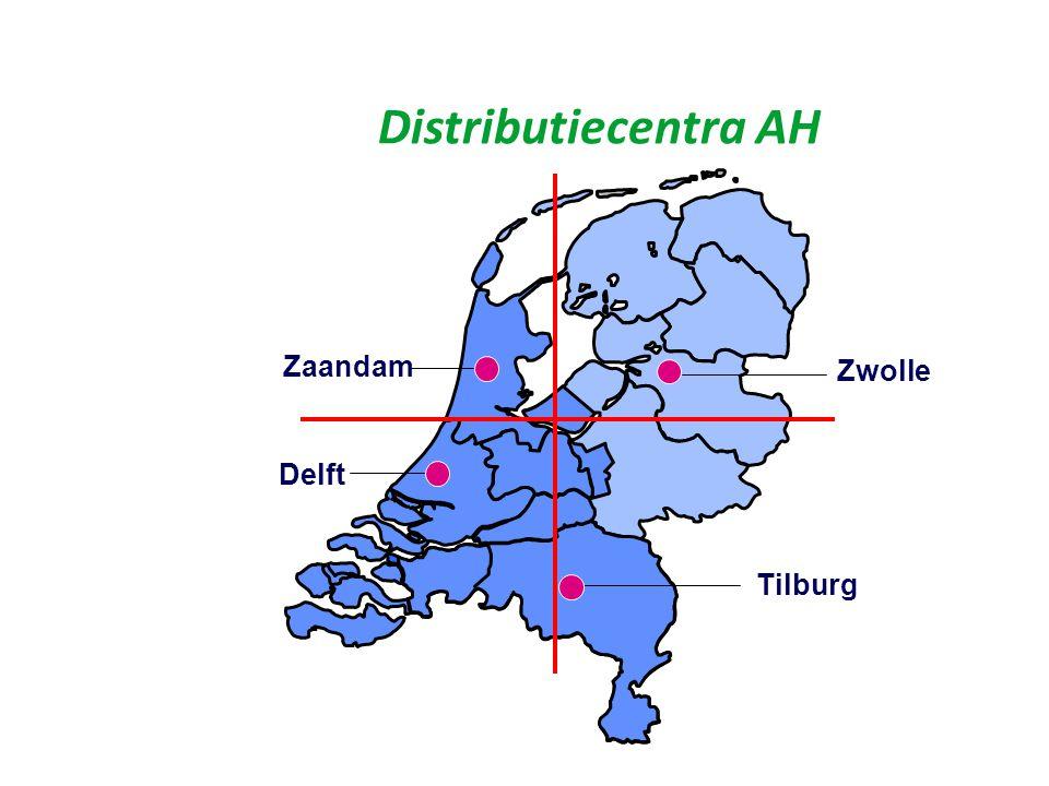 Logistieke bereikbaarheid Uitkomst centraliteit: 2 Locaties, Binnenvaart