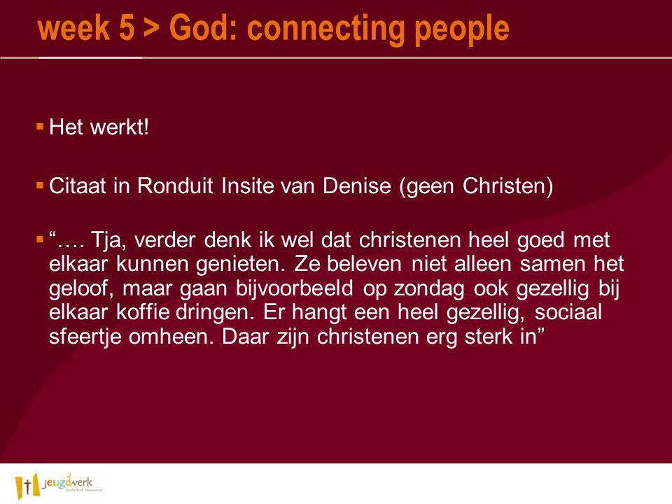  Het werkt.  Citaat in Ronduit Insite van Denise (geen Christen)  ….