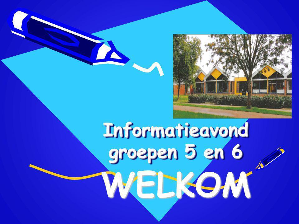 Informatieavond groepen 5 en 6 WELKOM