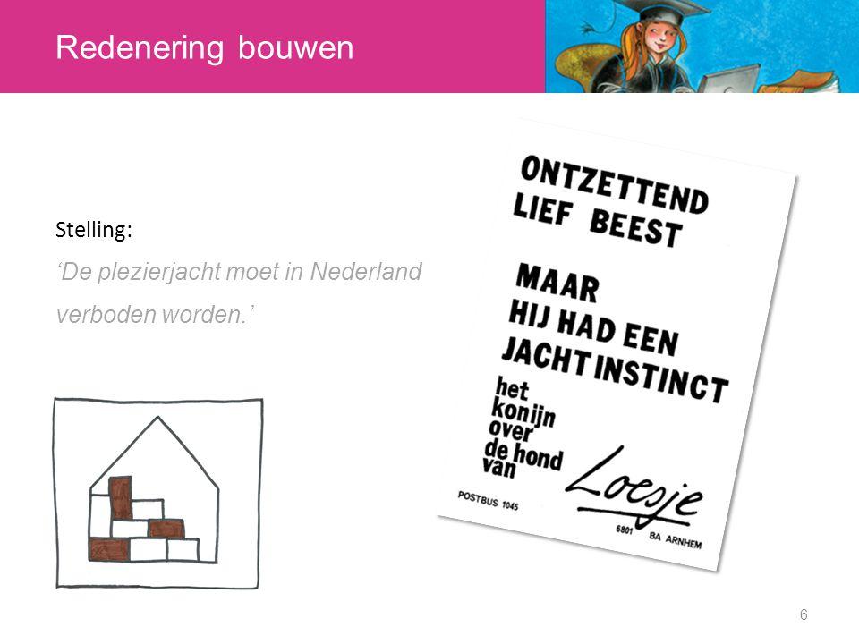 Redenering bouwen Stelling: 'De plezierjacht moet in Nederland verboden worden.' 6