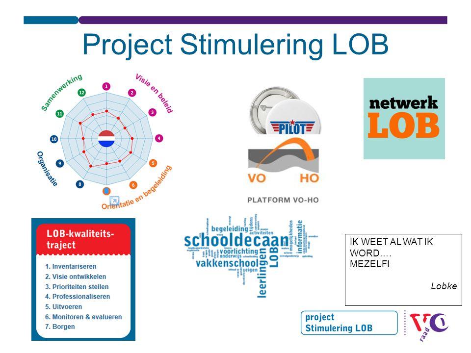 Project Stimulering LOB IK WEET AL WAT IK WORD…. MEZELF! Lobke