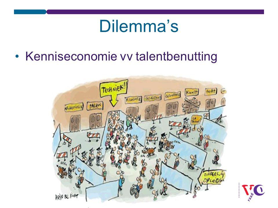 Dilemma's Kenniseconomie vv talentbenutting