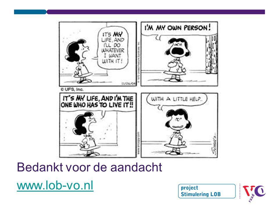 Bedankt voor de aandacht www.lob-vo.nl