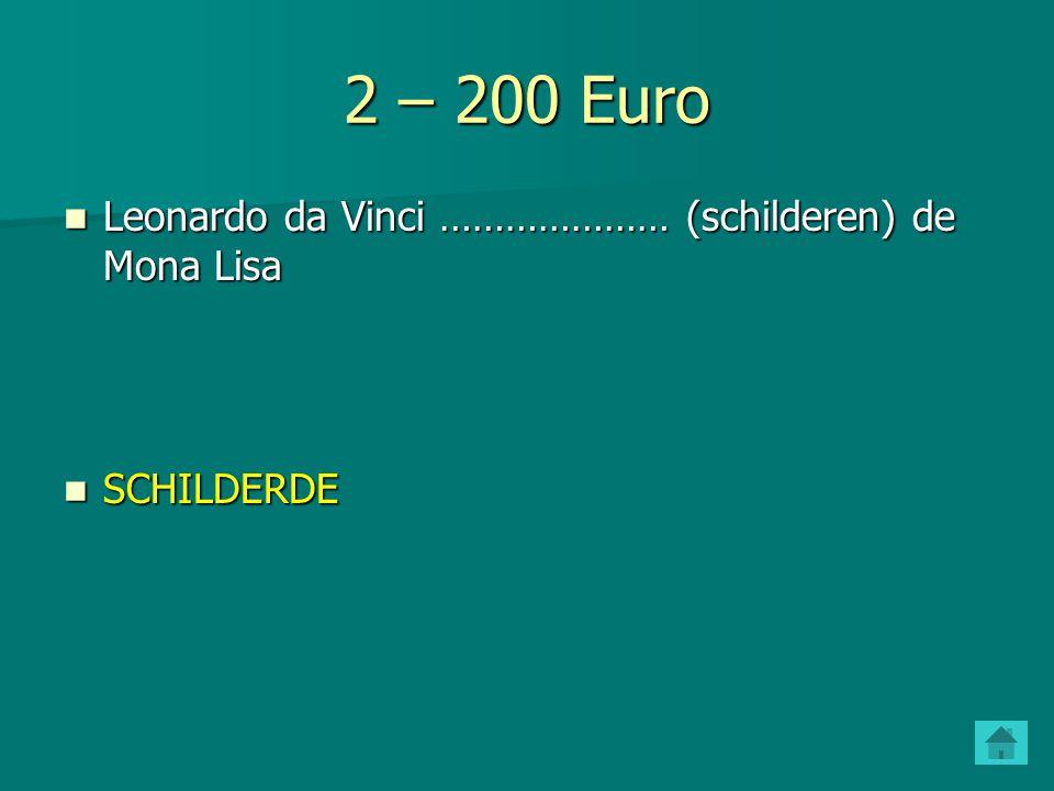 2 – 100 Euro Christoffel Columbus ………………..(ontdekken) Amerika.