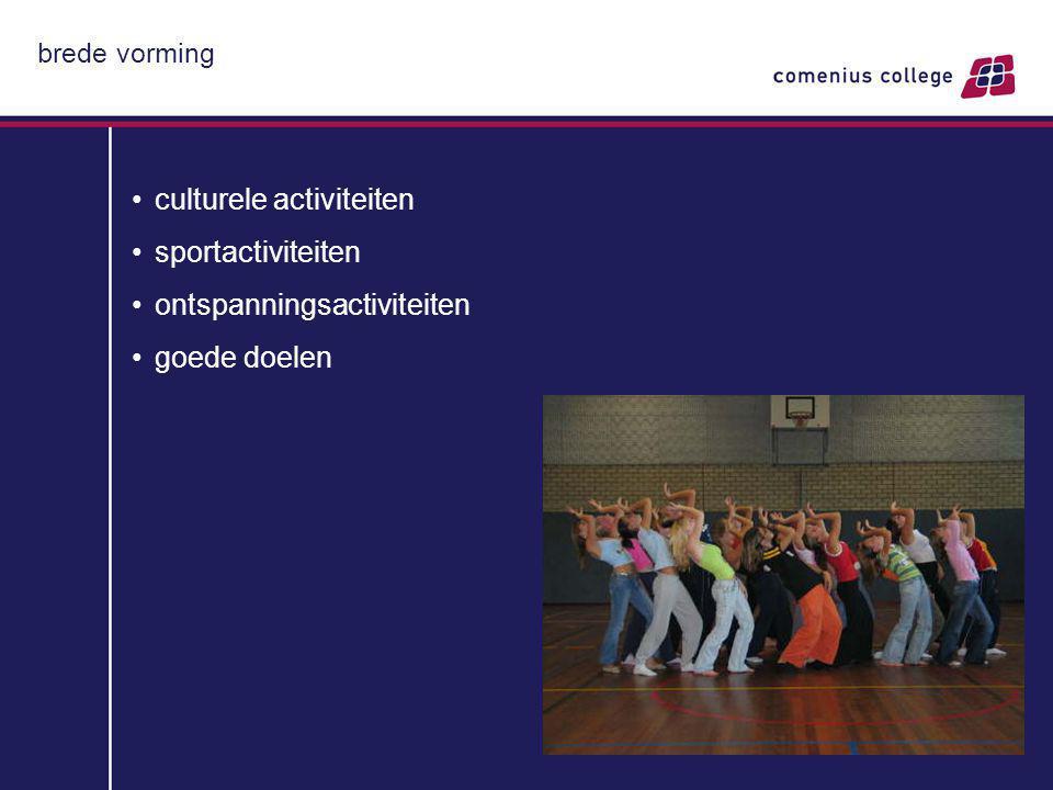 brede vorming culturele activiteiten sportactiviteiten ontspanningsactiviteiten goede doelen