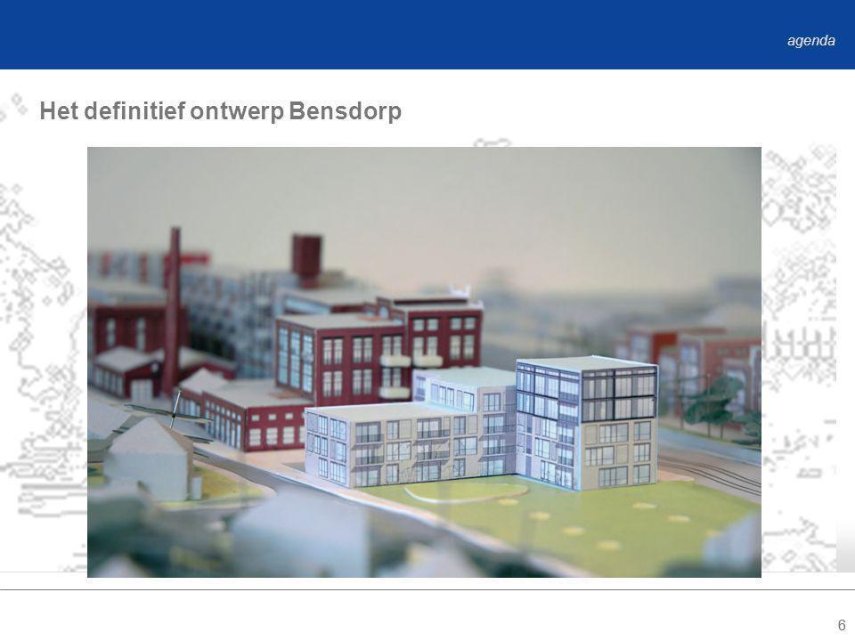 66 Het definitief ontwerp Bensdorp agenda