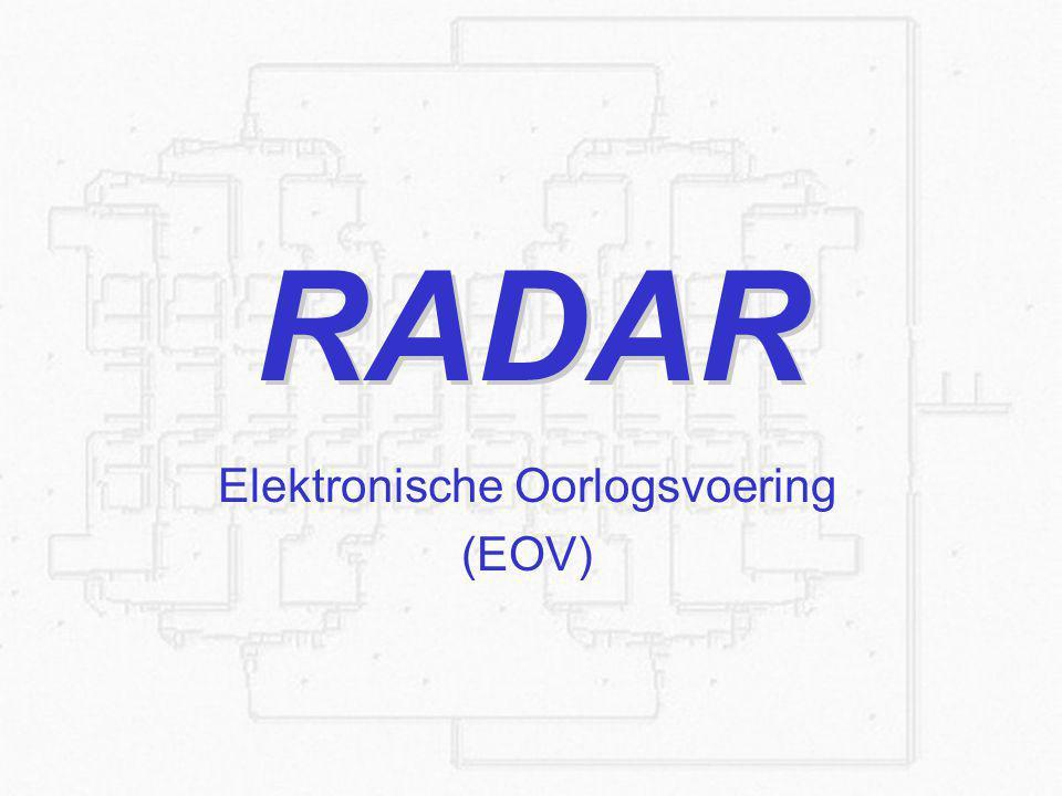 2 21-9-2014Propagatie en Sensoren boven water Elektronische Oorlogsvoering oElectronic Support Measures oElectronic Counter Measures oElectronic Counter Counter Measures
