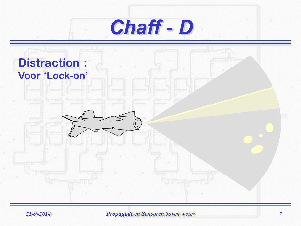 8 21-9-2014Propagatie en Sensoren boven water Chaff - S Seduction : Na 'Lock-on'