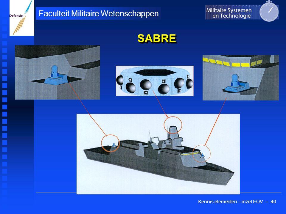 Kennis elementen – inzet EOV – 40 Faculteit Militaire Wetenschappen SABRESABRE