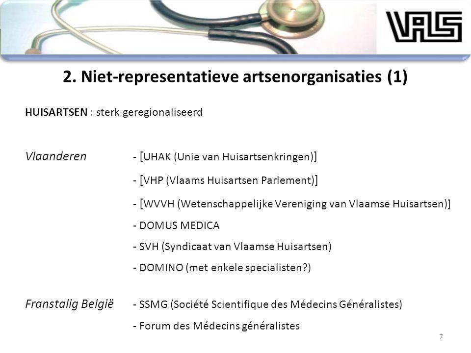 7 HUISARTSEN : sterk geregionaliseerd Vlaanderen - [ UHAK (Unie van Huisartsenkringen) ] - [ VHP (Vlaams Huisartsen Parlement) ] - [ WVVH (Wetenschapp