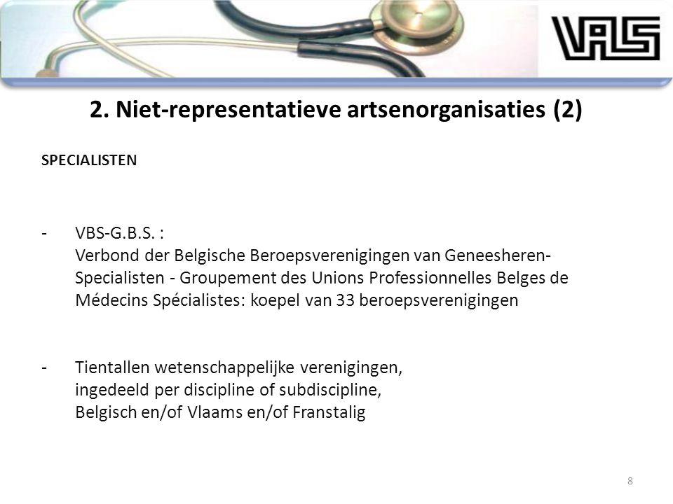 8 SPECIALISTEN -VBS-G.B.S. : Verbond der Belgische Beroepsverenigingen van Geneesheren- Specialisten - Groupement des Unions Professionnelles Belges d
