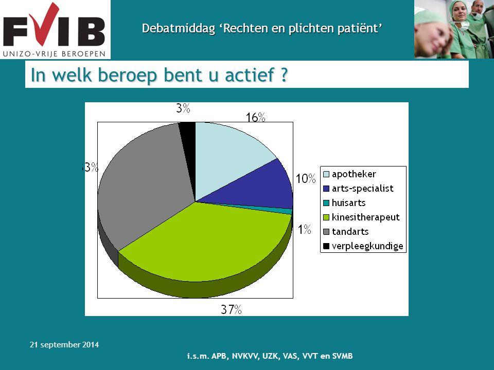 Debatmiddag 'Rechten en plichten patiënt' 21 september 2014 i.s.m.