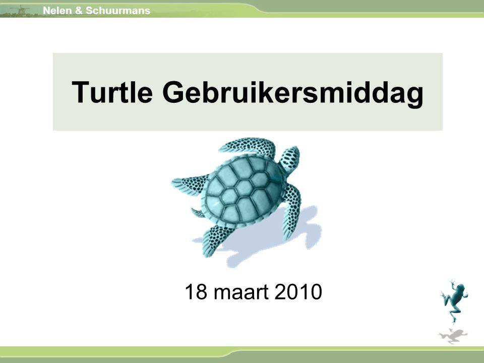 Nelen & Schuurmans 18 maart 2010 Turtle Gebruikersmiddag