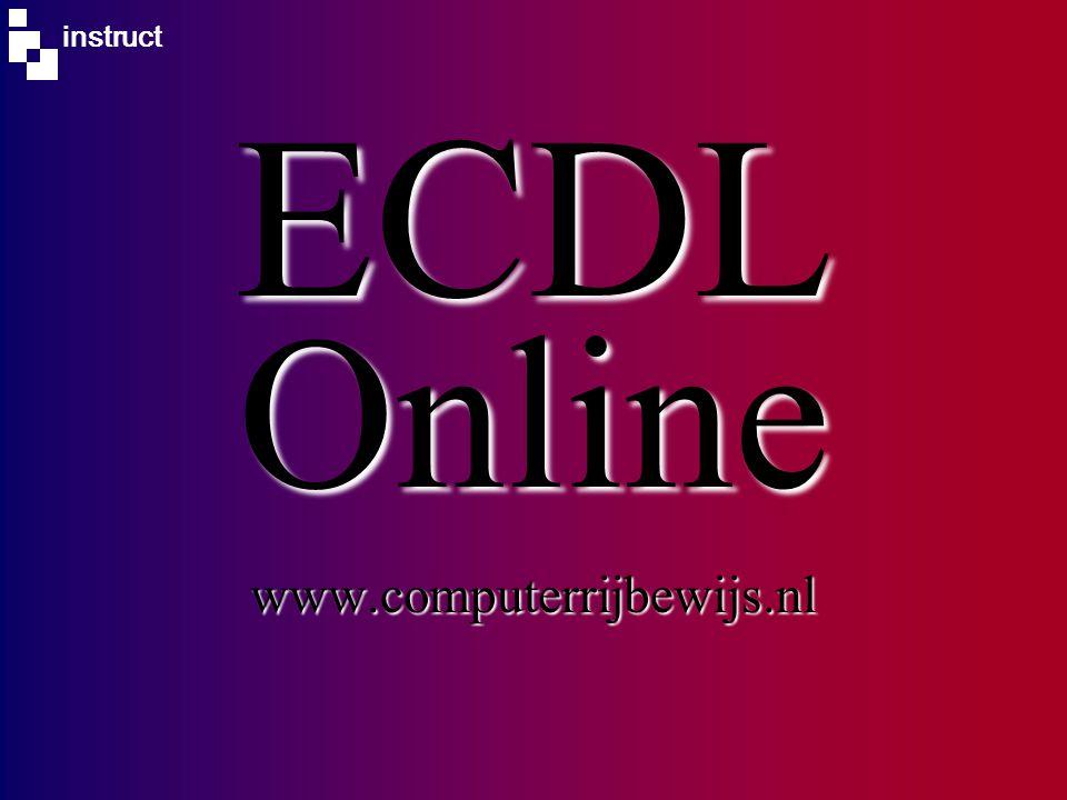 instruct ECDL Online www.computerrijbewijs.nl