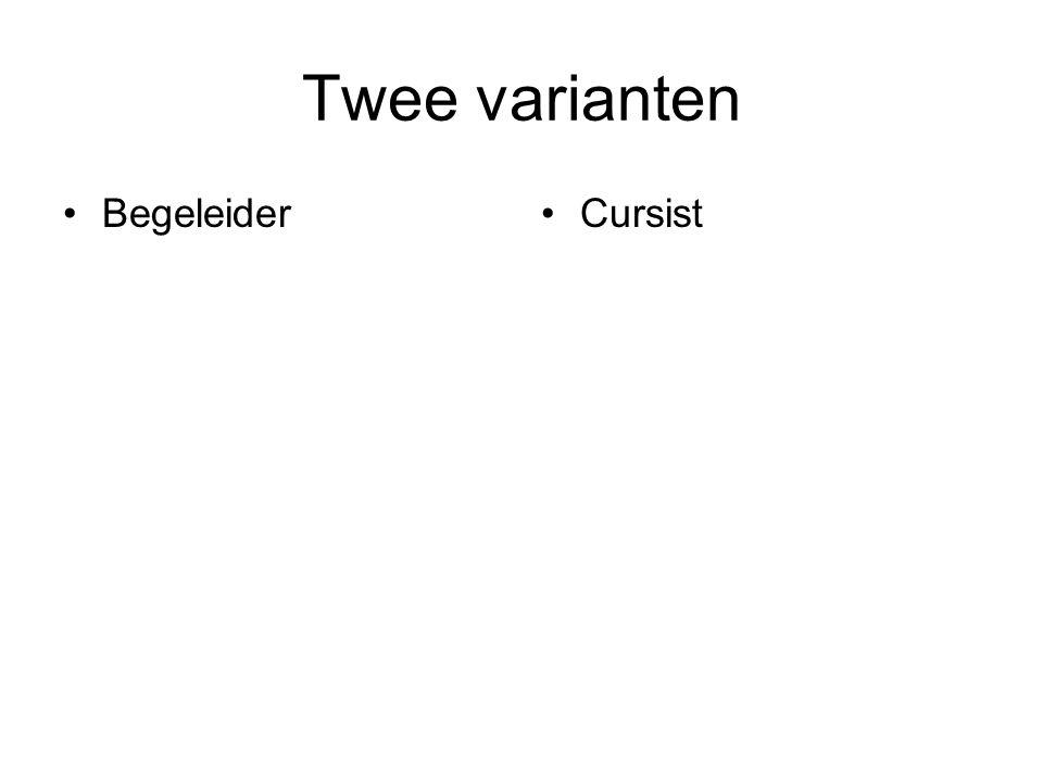 Twee varianten BegeleiderCursist