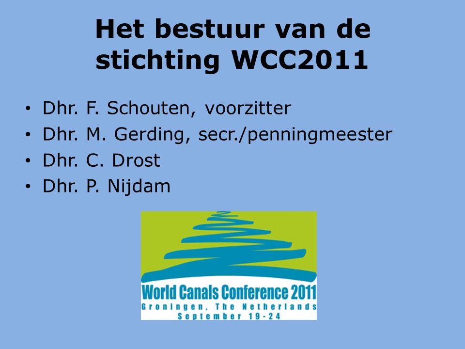 Het bestuur van de stichting WCC2011 Dhr. F. Schouten, voorzitter Dhr.