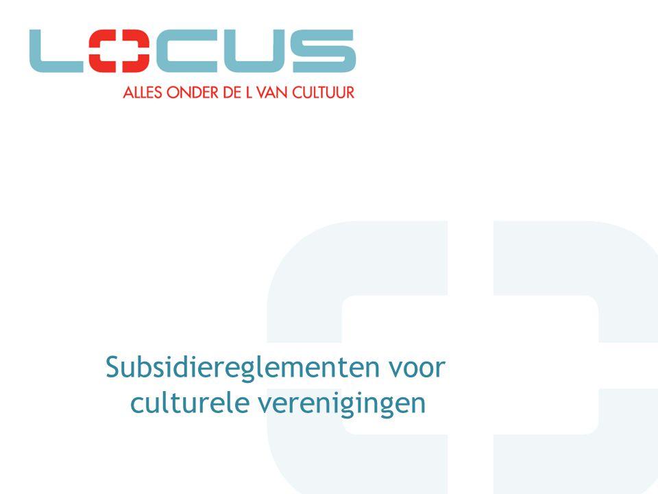 Subsidiereglementen voor culturele verenigingen